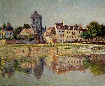 Kunstdruck, individuelle Kunstkarte: Claude Monet, By the River at Vernon, 1883