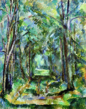 Fine Art Reproduction, individual art card: Paul Cézanne, Avenue at Chantilly, 1888