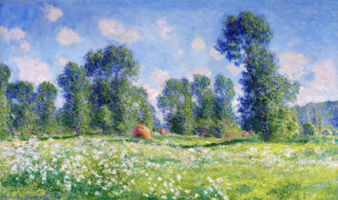 Kunstdruck, individuelle Kunstkarte: Claude Monet, Effect of Spring, Giverny, 1890