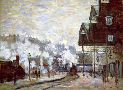 Gare Saint-Lazare, Paris, 1877 of artist Claude Monet as framed image