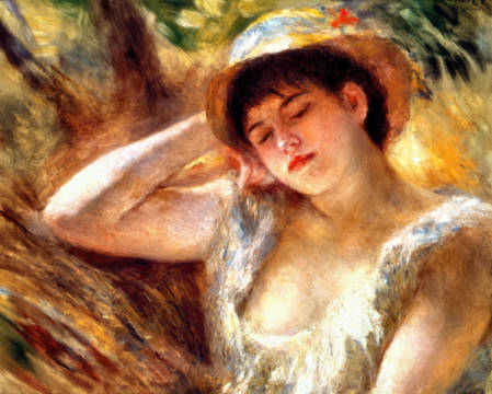 Fine Art Reproduction, individual art card: Pierre Auguste Renoir, The Sleeper, 1880