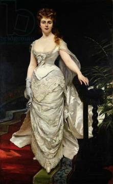 Portrait of Mademoiselle X, 1873 of artist Charles Emile Auguste Carolus-Duran as framed image