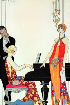 Fine Art Reproduction, individual art card: Georges Barbier, Incantation, illustration for 'Gazette du Bon Ton', 1922