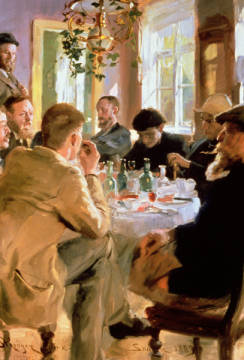 Fine Art Reproduction, individual art card: Peter Severin Kr�yer, Lunchtime, 1883