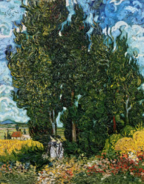 Kunstdruck: Vincent van Gogh, The cypresses, c.1889-90