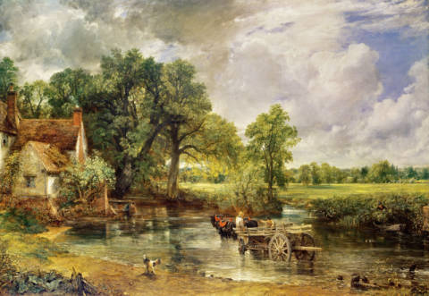 The Hay Wain, 1821 of artist John Constable as framed image