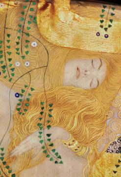 Kunstdruck, individuelle Kunstkarte: Gustav Klimt, Detail of Water Serpents I, 1904-07