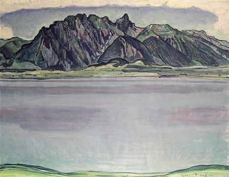 Kunstdruck: Ferdinand Hodler, Thunersee with the Stockhorn Mountains, 1910