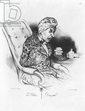 La Potion, Draught, from 'Galerie physionomique', plate 2 from 'Le Charivari', 19th November 1836 von Künstler Honore Daumier als gerahmtes Bild