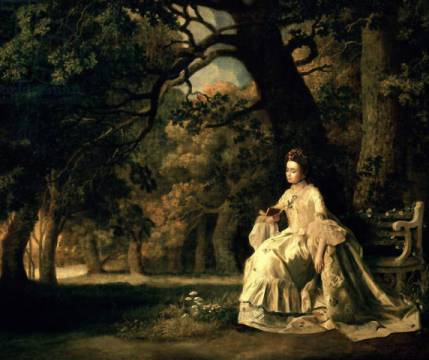 Kunstdruck: George Townley Stubbs, Lady reading in a Park, c.1768-70