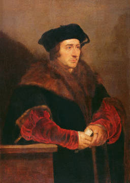 Kunstdruck, individuelle Kunstkarte: Peter Paul Rubens, Portrait of Sir Thomas More