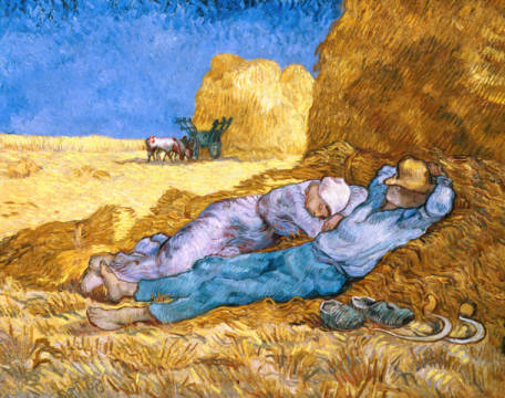 Kunstdruck, individuelle Kunstkarte: Vincent van Gogh, Noon, or The Siesta, after Millet, 1890