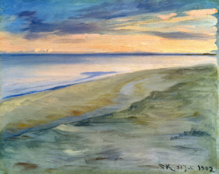 Fine Art Reproduction, individual art card: Peter Severin Kr�yer, The Beach, Skagen, 1902
