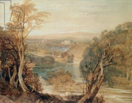 The River Wharfe with a distant view of Barden Tower von Künstler Joseph Mallord William Turner als gerahmtes Bild