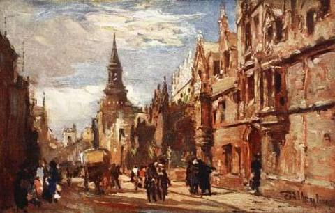All Souls' College and the High Street, 1903 von Künstler John Fulleylove als gerahmtes Bild