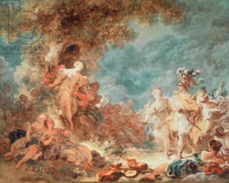 Kunstdruck: Jean-Honore Fragonard, Rinaldo in the garden of the palace of Armida