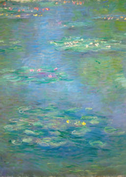 Waterlilies, detail, 1903 of artist Claude Monet as framed image