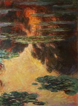 Kunstdruck: Claude Monet, Waterlilies, detail, 1907