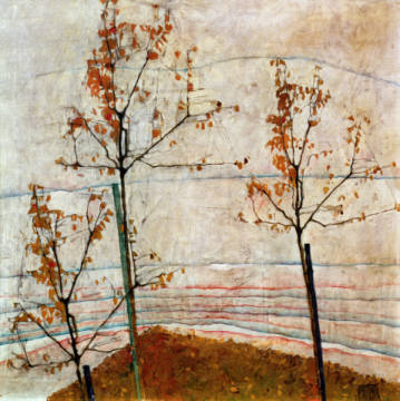 Autumn Trees, 1911 of artist Egon Schiele as framed image