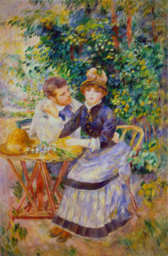 Fine Art Reproduction, individual art card: Pierre Auguste Renoir, In the Garden, 1885