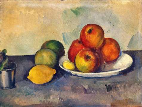 Kunstdruck, individuelle Kunstkarte: Paul Cézanne, Still life with Apples, c.1890