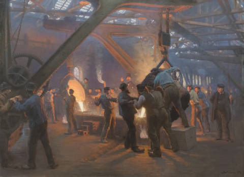 Kunstdruck: Peter Severin Krøyer, Biermeister and Wain Steel Forge, 1885