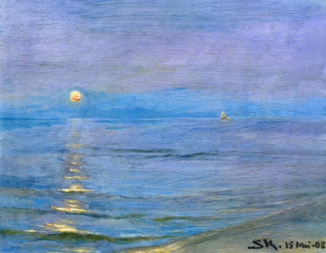 Fine Art Reproduction, individual art card: Peter Severin Kr�yer, Summer Evening, Skagen, 1908