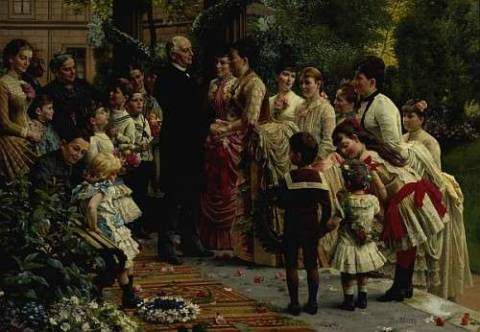 Fine Art Reproduction: Anton Alexander von Werner, The Seventieth Birthday Party of Commercial Director Valentin Manheimer, 1887