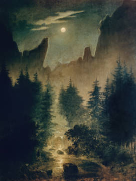 Clearing in the Forest of artist Caspar David Friedrich as framed image