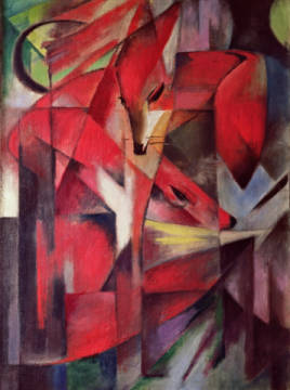 Fine Art Reproduction, individual art card: Franz Marc, The Fox, 1913