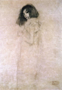 Fine Art Reproduction, individual art card: Gustav Klimt, Portrait of a young woman, 1896-97