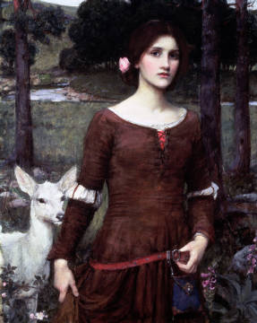 Kunstdruck, individuelle Kunstkarte: John William Waterhouse, The Lady Clare, 1900