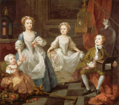 Kunstdruck: William Hogarth, The Graham Children, 1742