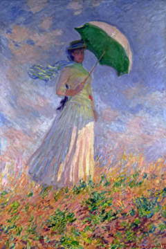 Woman with a Parasol turned to the Right, 1886 von Künstler Claude Monet als gerahmtes Bild