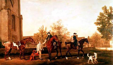 Kunstdruck: George Townley Stubbs, Huntsmen setting out from Southill