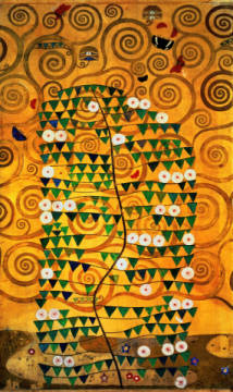 Fine Art Reproduction, individual art card: Gustav Klimt, Tree of Life  c.1905-09