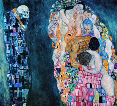 Fine Art Reproduction, individual art card: Gustav Klimt, Death and Life, c.1911