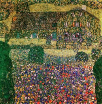 Fine Art Reproduction, individual art card: Gustav Klimt, Country House by the Attersee, c.1914