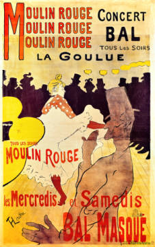 Poster advertising 'La Goulue' at the Moulin Rouge, 1893 von Künstler Henri de Toulouse-Lautrec als gerahmtes Bild