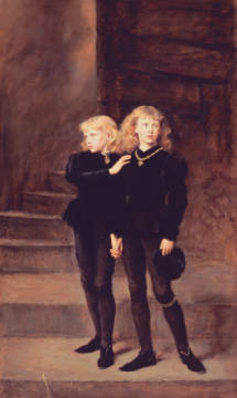 The Princes Edward and Richard in the Tower, 1878 von Künstler Sir John Everett Millais als gerahmtes Bild