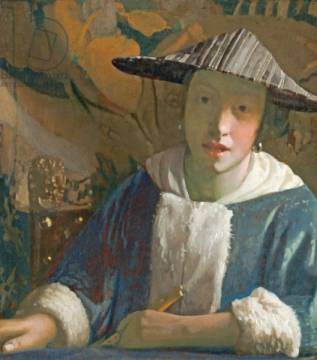 Fine Art Reproduction: Jan Vermeer van Delft, Young Girl with a Flute, c.1665-70
