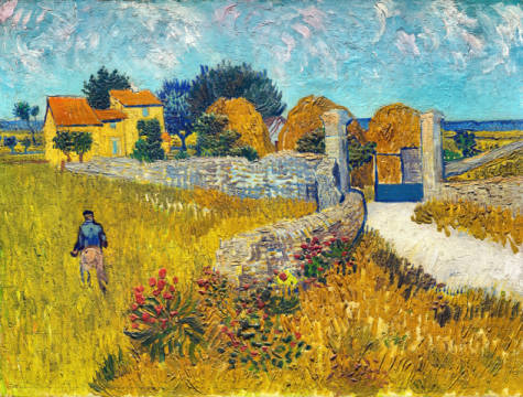Fine Art Reproduction, individual art card: Vincent van Gogh, Farmhouse in Provence, 1888