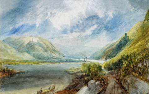 Junction of the Lahn, 1817 von Künstler Joseph Mallord William Turner als gerahmtes Bild