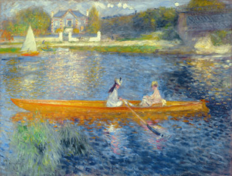 Kunstdruck, individuelle Kunstkarte: Pierre Auguste Renoir, Boating on the Seine, c.1879