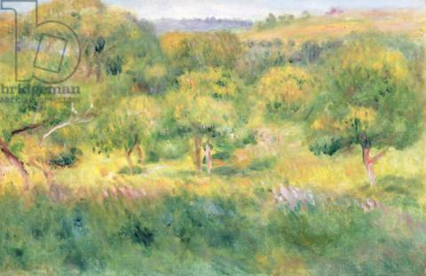 Kunstdruck: Pierre Auguste Renoir, The edge of a forest in Brittany, 1893