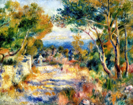 L'Estaque, 1882 of artist Pierre Auguste Renoir as framed image