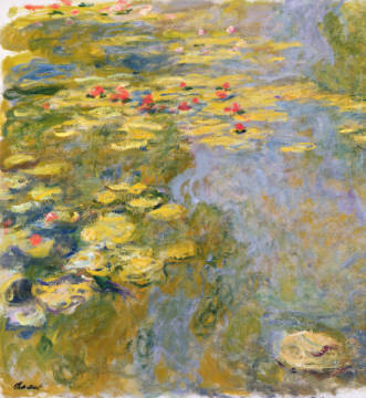 Kunstdruck, individuelle Kunstkarte: Claude Monet, The Waterlily Pond, 1917-19