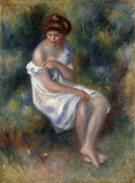 Kunstdruck, individuelle Kunstkarte: Pierre Auguste Renoir, The Bather, c.1900