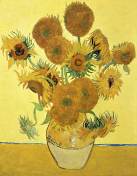 Fine Art Reproduction, individual art card: Vincent van Gogh, Sunflowers, 1888