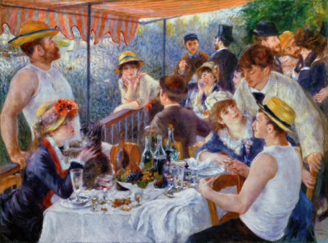 The Luncheon of the Boating Party, 1881 of artist Pierre Auguste Renoir as framed image